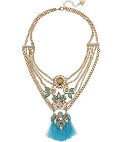 GUESS Multi Chain Statement Necklace with Thread F