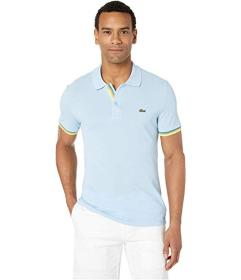 Lacoste Short Sleeve 2 Ply Pique Slim Fit Striped