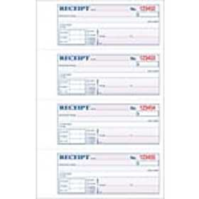 Adams® Carbonless Receipt Book, 11 x 8, 3-Part, 10
