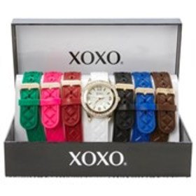 XOXO Womens Crystal Mother of Pearl Watch & Silico