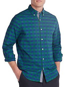 Nautica Classic-Fit Plaid Oxford Shirt SPRUCE