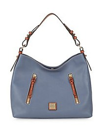 Dooney & Bourke Cooper Leather Hobo Bag STEEL BLUE
