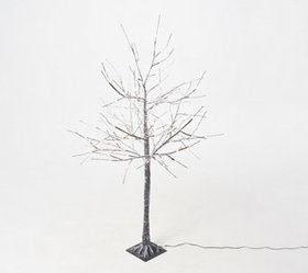 """As Is"" Indoor/ Outdoor 4' Birch Tree with Remote"