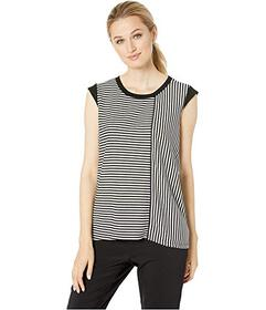 Jones New York Mix Stripe Direction Muscle Tee