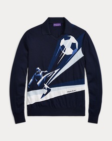 Ralph Lauren Merino Wool Graphic Sweater