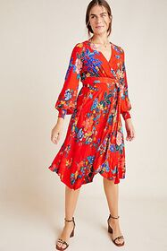 Anthropologie Boswell Textured Wrap Tunic