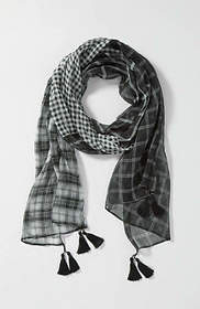 Mixed-Plaid Scarf