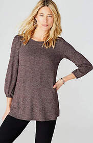 Wearever A-Line Buttoned-Back Top