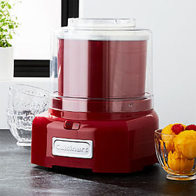 Crate Barrel Cuisinart ® Red Ice Cream Maker/Froze