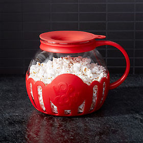 Crate Barrel Epoca 3-Qt. Microwave Glass Popcorn P