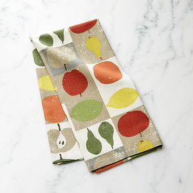 Crate Barrel Checked Fruit Dish Towel