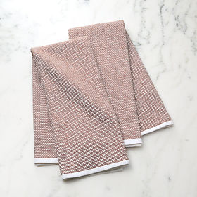 Crate Barrel Textured Terry Henna Dish Towels, Set