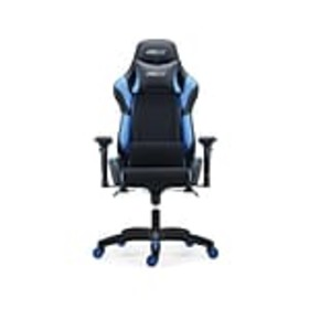 Staples Helix Fabric Racing Gaming Chair, Black/Bl