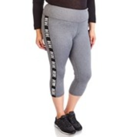 BEBE SPORT Plus Size Active Capris with Logo Side