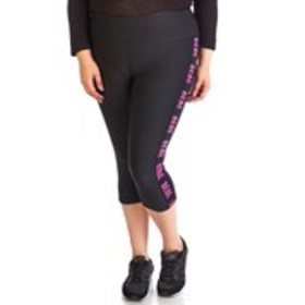 BEBE SPORT Plus Size Side Tape Active Capris
