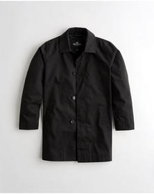 Hollister Trench Coat, BLACK