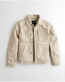 Hollister Denim Utility Jacket, TAN
