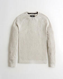 Hollister Muscle Fit Sweater, WHITE WITH LOGO
