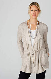 Pure Jill Textured Tie-Front Jacket