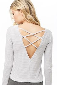 Forever21 Active Crisscross Waffle-Knit Top