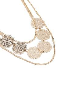 Forever21 Filigree Charm Layered Necklace