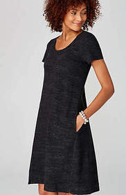 Pure Jill Textured Space-Dyed Dress