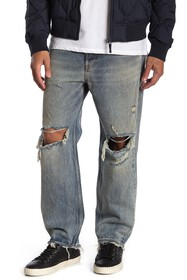 Diesel Dagh Destroyed Regular Straight Leg Jeans