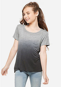 Justice Ombre Cross Back Pocket Tee