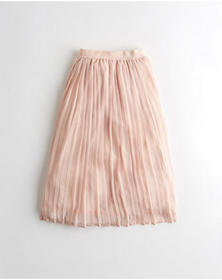 Hollister Ultra High-Rise Pleated Chiffon Midi Ski