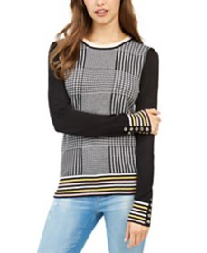 Tommy Hilfiger Plaid-Front Sweater, Created for Ma