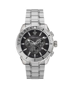 Versace Men's 48mm Casual Chronograph Watch w/ Bra