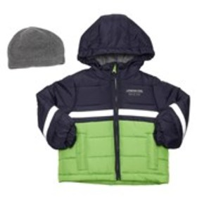 LONDON FOG Toddler Boys Colorblock Puffer Coat wit