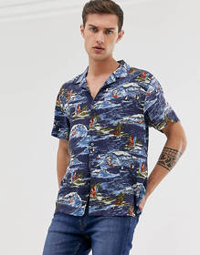 French Connection surf print shirt