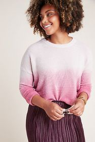 Anthropologie Thea Dip-Dyed Sweater