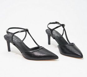 Franco Sarto Pointy Toe T-Strap Pumps - Jubilant -