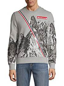Moncler Graphic Cotton Sweatshirt GREY