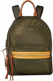 Tory Burch Perry Nylon Color Block Zip Backpack
