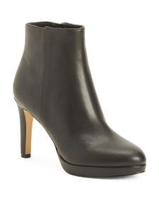 NINE WEST Leather Platfrom Booties