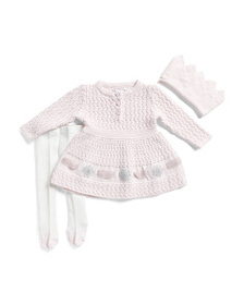 CATHERINE MALANDRINO Newborn Girls Lurex Sweater D