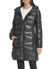 DKNY Packable Puffer Jacket BLACK