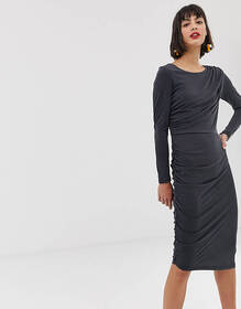 Selected bodycon midi pencil dress