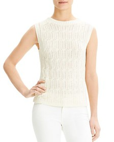 Theory - Sleeveless Cable-Knit Top