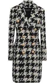 BALMAIN Double-breasted houndstooth wool-blend twe