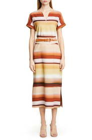Lafayette 148 New York Cosimia Belted Midi Dress