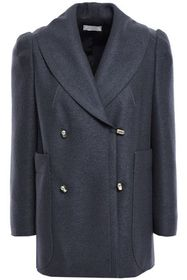 NINA RICCI Double-breasted wool-felt coat