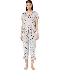 Kate Spade New York Jersey Knit Cropped Pajama Set