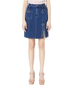 See by Chloe Denim Skirt with Braids