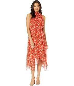 Sam Edelman Smocked Midi Hanky Hem Dress