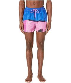 Paul Smith La Pink Wall Classic Swim Shorts