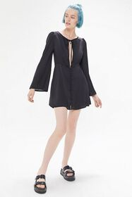 Lioness The Trendsetter Tie-Front Mini Dress